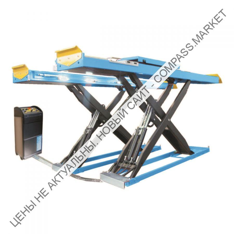 Подъемник ножничный г/п 4500 кг. платформы гладкие с подъем. второго уровня, с люфт-детектором, Werther-OMA (Италия)