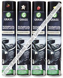 Полироль-очиститель пластика «Dashboard Cleaner» глянцевый блеск GRASS 750 мл